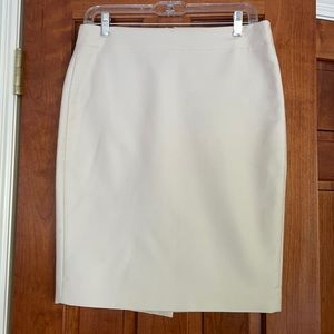 JCrew No. 2 Pencil Skirt in Ivory size 4